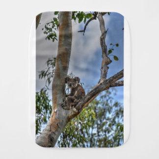 KOALA IN TREE AUSTRALIA ART EFFECTS BURP CLOTH