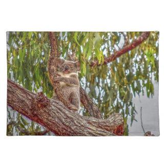 KOALA IN TREE AUSTRALIA ART EFFECTS PLACEMATS