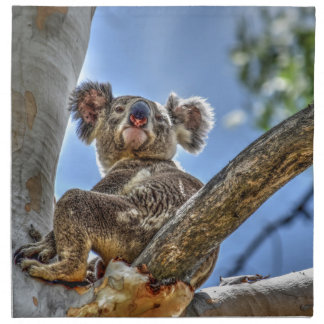 KOALA IN TREE AUSTRALIA WITH ART EFFECTS NAPKIN