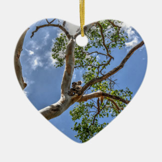 KOALA IN TREE RURAL QUEENSLAND AUSTRALIA CERAMIC HEART DECORATION