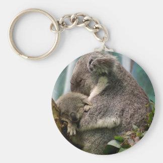 Koala Mom and New Baby Key Chains