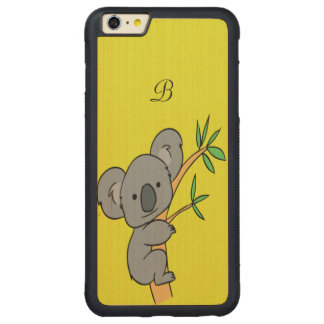Koala Monogram Carved® Maple iPhone 6 Plus Bumper Case