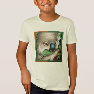 Koala Munching a Leaf Kids T-Shirt