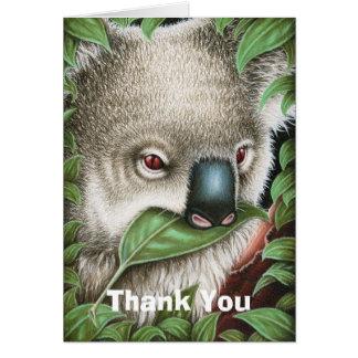 Koala Munching a Leaf Thank You Note Card