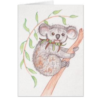 Koala on Tree Branch Card