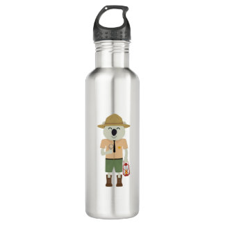 koala ranger with hat Zgvje 710 Ml Water Bottle