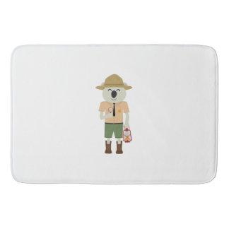 koala ranger with hat Zgvje Bath Mat