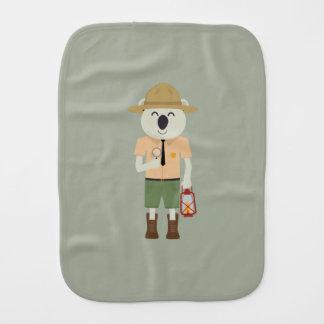 koala ranger with hat Zgvje Burp Cloth