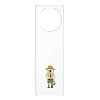 koala ranger with hat Zgvje Door Hanger