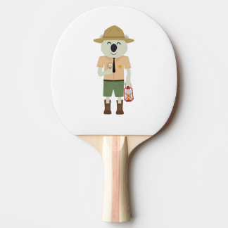 koala ranger with hat Zgvje Ping Pong Paddle