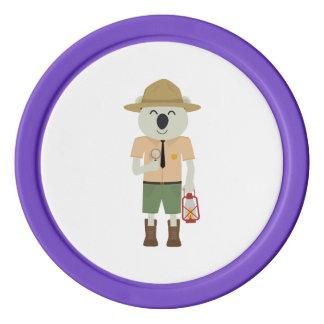 koala ranger with hat Zgvje Poker Chips