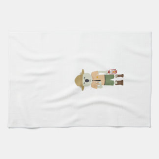 koala ranger with hat Zgvje Tea Towel