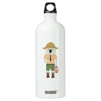 koala ranger with hat Zgvje Water Bottle