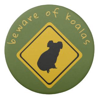 koala road sign - eraser