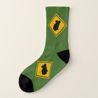 koala road sign - socks 1