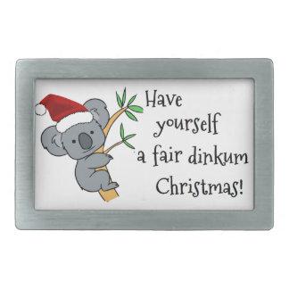 Koala Santa - Australian Christmas Belt Buckle