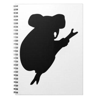 Koala Silhouette Spiral Notebook