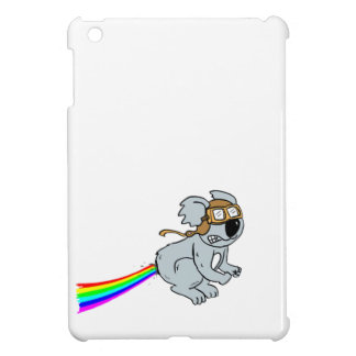 Koala with rainbow iPad mini cases
