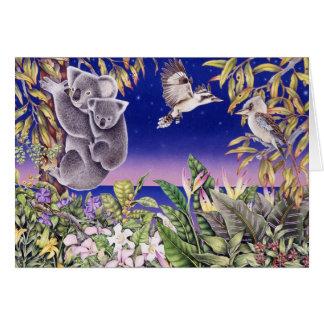 koalas and kookaburras card