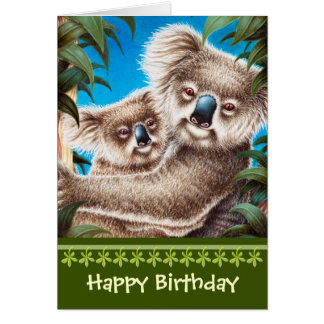 Koalas Birthday Card