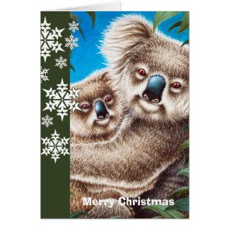 Koalas Christmas Card