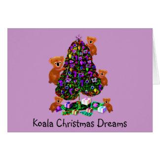 Koalas Christmas Morning Greeting Cards