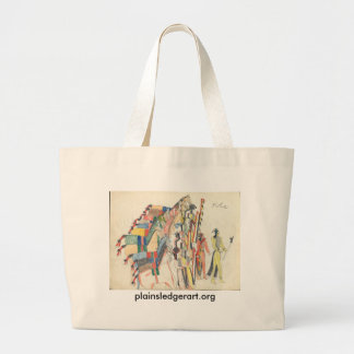 Koba:  Their friends receive them with advisory Large Tote Bag