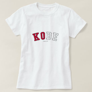 Kobe in Japan national flag colors T-Shirt
