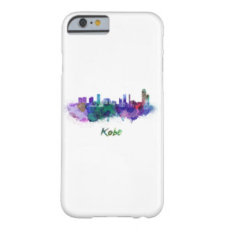 Kobe skyline in watercolor barely there iPhone 6 case