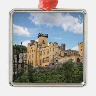 Koblenz, Germany, Stolzenfels Castle, Schloss Silver-Colored Square Decoration