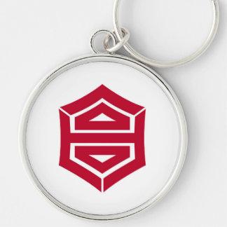 Kochi city flag Kochi prefecture japan symbol Silver-Colored Round Key Ring