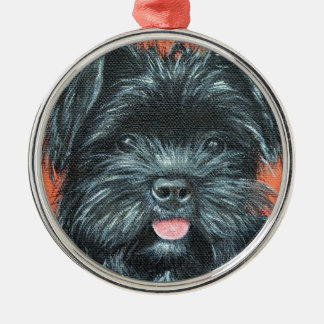Koda - Terrier Painting Metal Ornament