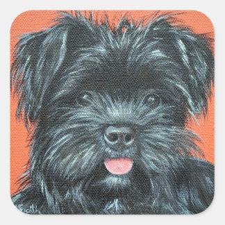 Koda - Terrier Painting Square Sticker