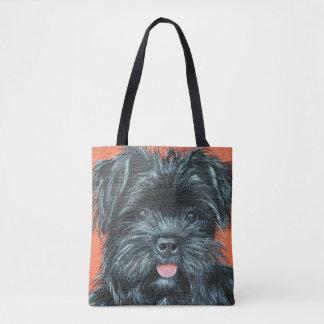 Koda - Terrier Painting Tote Bag
