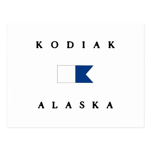 Kodiak Alaska Alpha Dive Flag Post Card