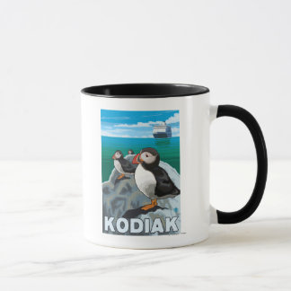 Kodiak, AlaskaPuffins and Alaskan Cruise Ship Mug