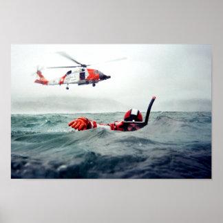 Kodiak Rescue Swimmer - Coast Guard Poster
