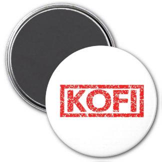Kofi Stamp 7.5 Cm Round Magnet