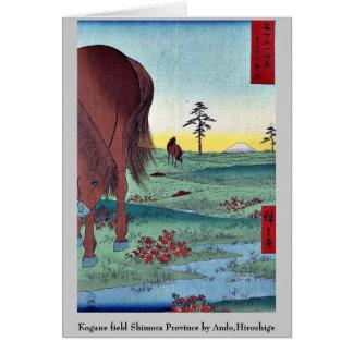 Kogane field Shimosa Province by Ando,Hiroshige Card