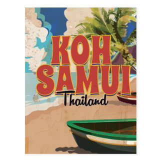 Koh Samui, Thailand Vintage Travel Poster Post Cards