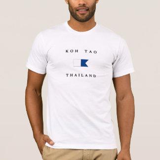 Koh Tao Thailand Alpha Dive Flag T-Shirt