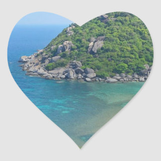 Koh Tao Thailand Heart Sticker