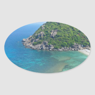Koh Tao Thailand Oval Sticker
