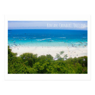 KohLan island Thailand tourist attraction postcard