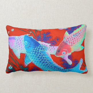 """Koi Accent Pillow"" Lumbar Cushion"