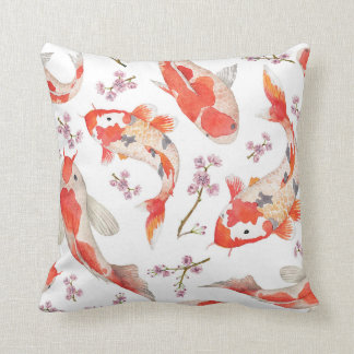 Koi and Cherry Blossom Pattern Cushion
