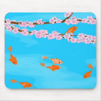 Koi and Sakura Mousepad