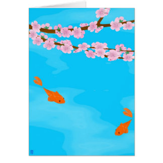 Koi and Sakura Note Card
