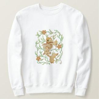 Koi Art Nouveau Embroidered Sweatshirt