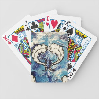 koi at play 2 bicycle playing cards
